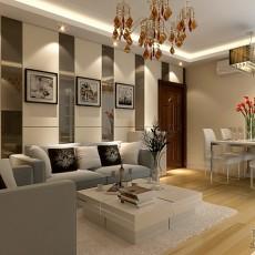 81平混搭二居装修设计效果图片欣赏