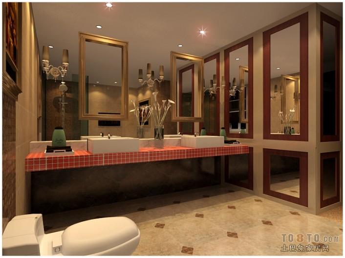 爱琴海-浴室-美式田园风格