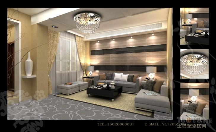 温暖地中海客厅装饰布置