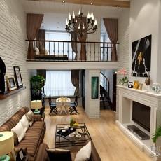 2018精选121平米混搭复式客厅装修图片欣赏