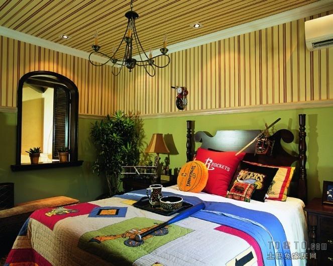 万科松山湖美式风格卧室装修效果图大全2014图片