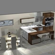 小厨房瓷砖效果图大全2013图片