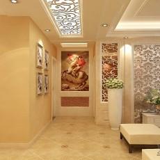 精选面积105平欧式三居玄关装修图片欣赏
