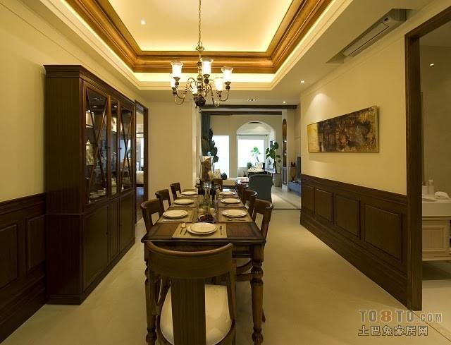 精美115平米四居餐厅混搭装修设计效果图片欣赏