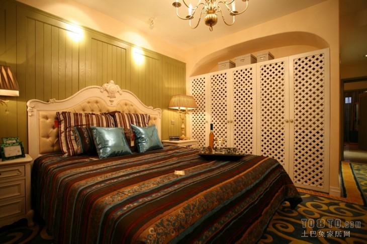 精美面积90平混搭三居卧室装修欣赏图片