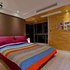 热门85平米二居卧室现代欣赏图