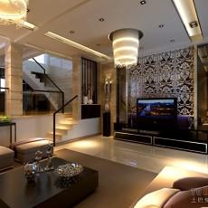 简欧客厅水晶吊灯设计效果图