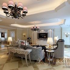 热门面积76平欧式二居客厅效果图片
