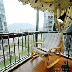小客厅阳台装修效果图大全2013图片