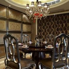 法式小餐厅吊顶效果图片