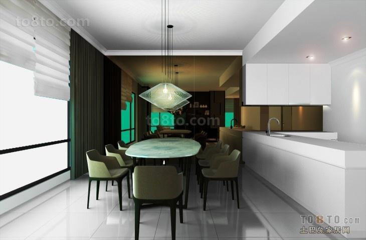 70万打造四居简约风格餐厅装修效果图大全2012图片