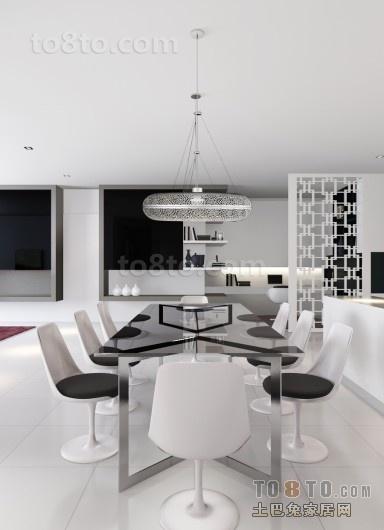 70万打造四居简约风格餐厅装修效果图大全2012