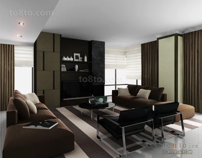 70万打造四居简约风格客厅装修效果图大全2012图片