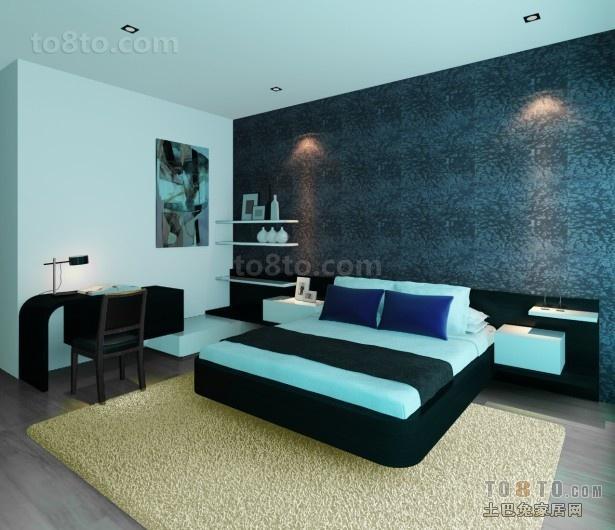 70万打造四居简约风格卧室装修效果图大全2012图片