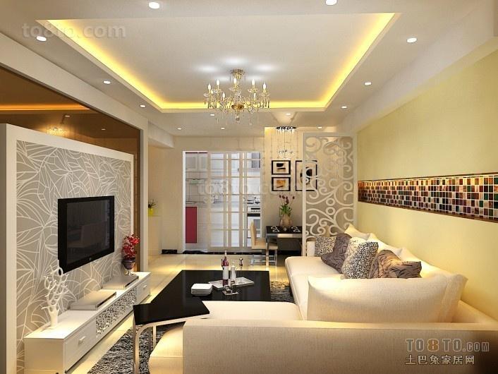 最新客厅吊顶装修效果图大全2013图片