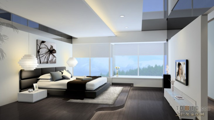 精选128平米四居卧室混搭装修图