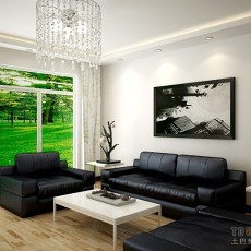 热门106平米三居客厅简约装修效果图片欣赏