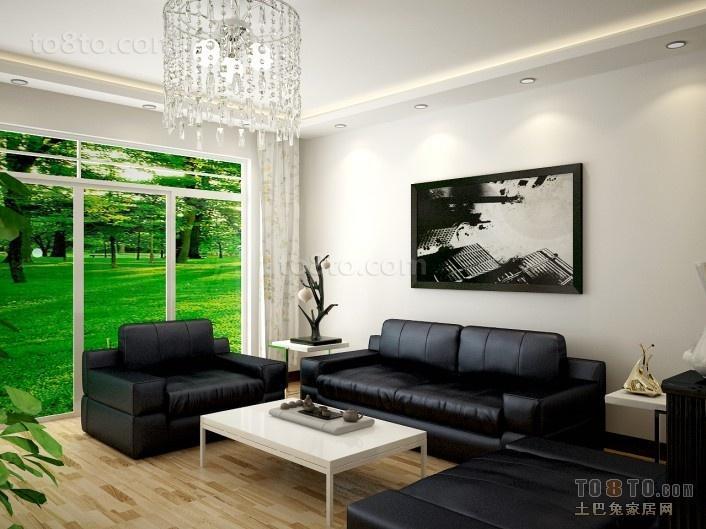简约风格客厅沙发装修效果图大全2014图片