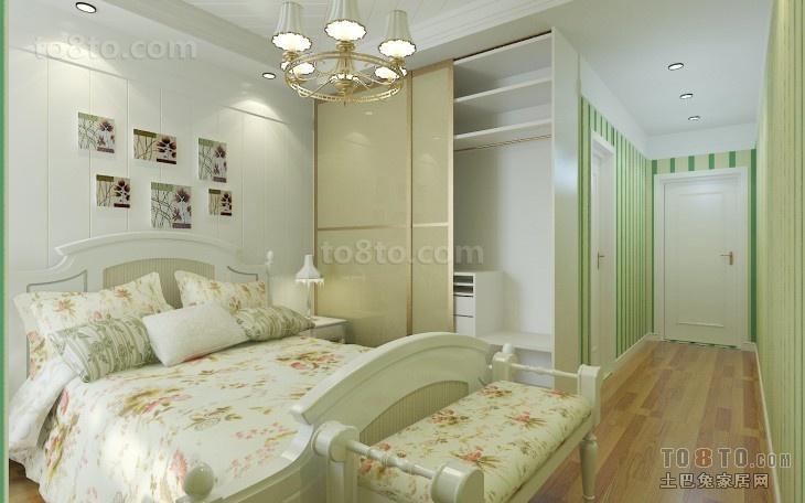 精美109平米三居卧室简约装修图片
