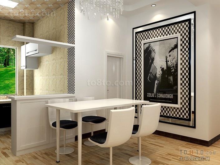幸福港湾简约风格室内餐厅装修效果图大全2014图片