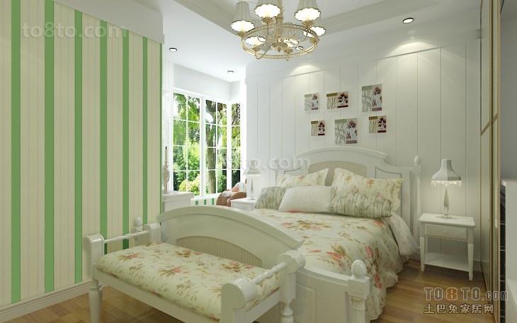 简约三居卧室实景图