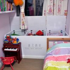 热门面积103平混搭三居儿童房装修效果图片欣赏