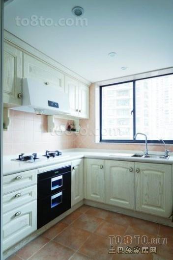 白色简约厨房装修效果图大全2012图片