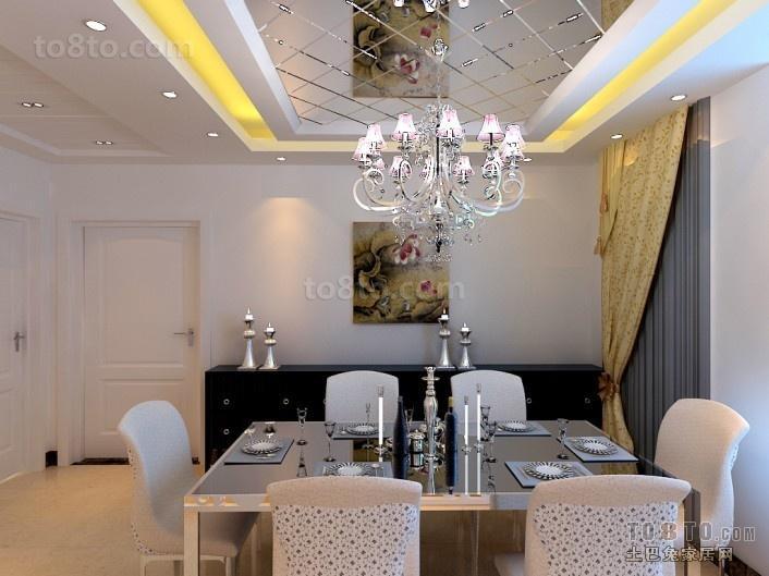 欧式餐厅吊顶装修效果图大全