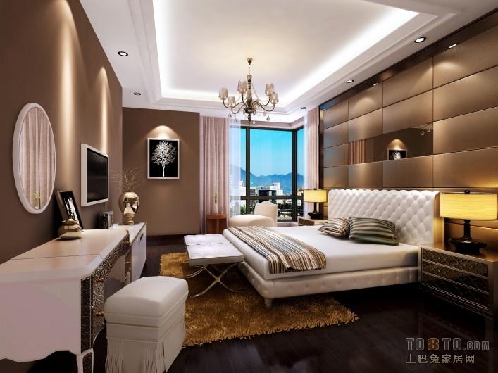 29万打造兰亭国际中式风格卧室吊顶装修效果图大全2014图片
