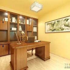 热门面积96平中式三居书房实景图片欣赏