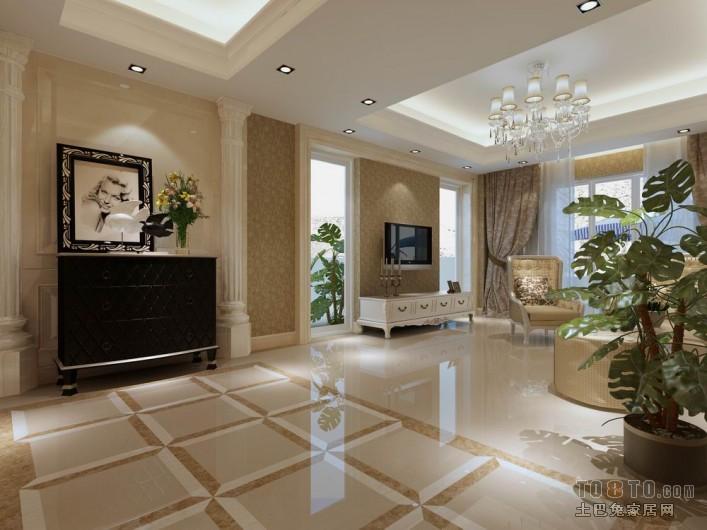 简约风格复式楼客厅装修图片