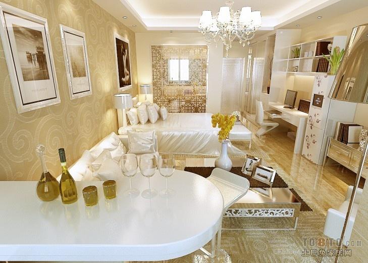 面积75平小户型卧室混搭装修实景图片