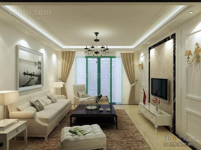 三居室现代风格客厅吊顶装修效果图大全2012图片