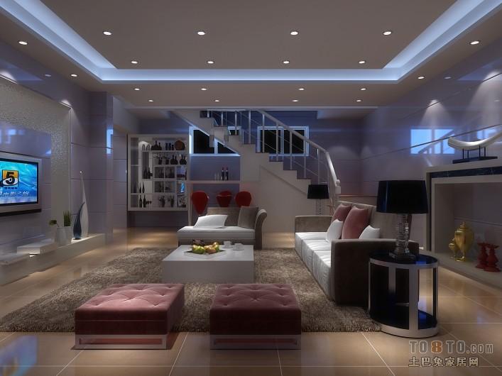 现代简约客厅图