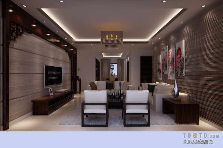 现代时尚家装卧室布置