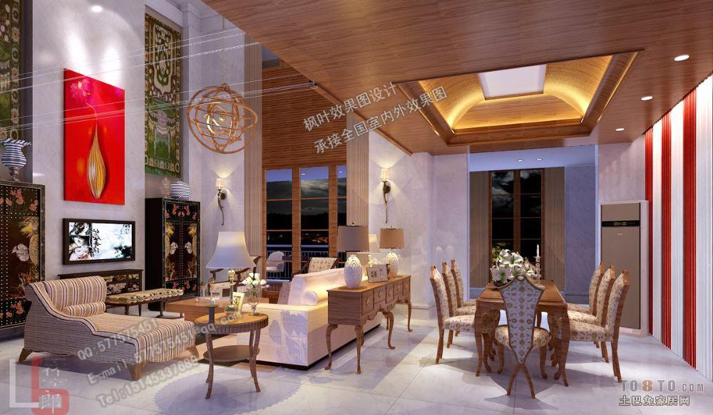 欧式田园复式客厅装修效果图大全欣赏