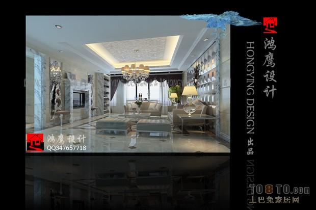 纯美简欧风格客厅设计