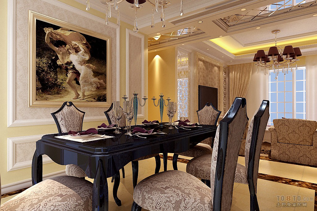 时尚美式餐厅装饰