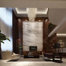 一居客厅中式装修效果图