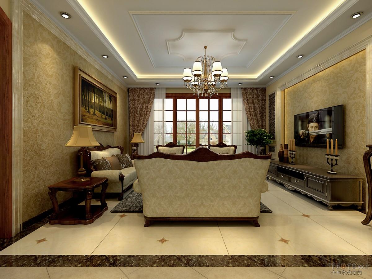 自然东南亚风格客厅装修案例