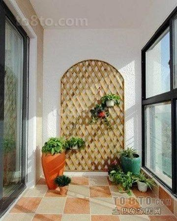 田园风格二居室阳台装修设计效果图大全2013图片