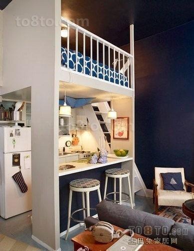 20平米小户型单身公寓室内装修效果图