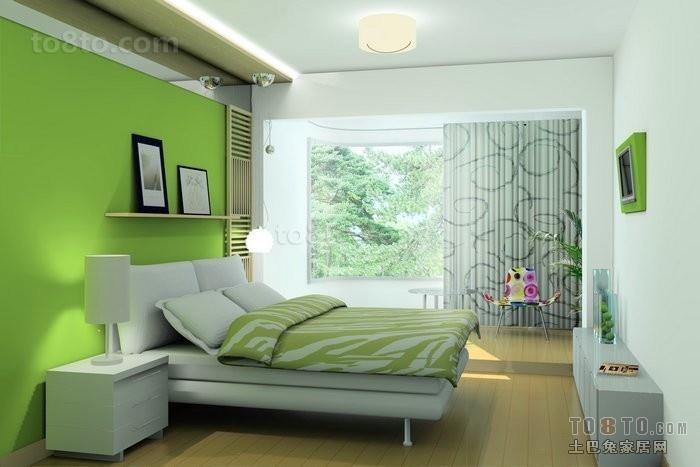 绿色宜人的卧室装修效果图