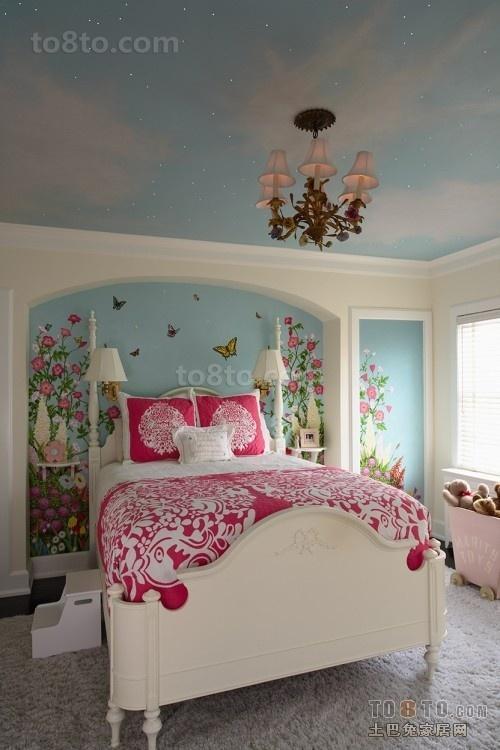 卧室床头墙面彩绘装修效果图欣赏