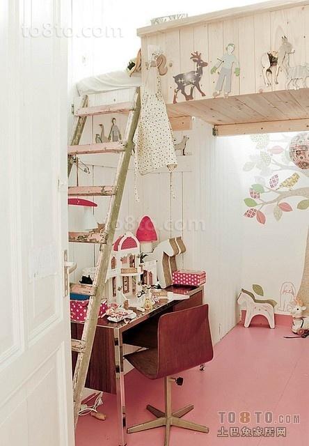 20平米小户型可爱女生单身公寓书房装修