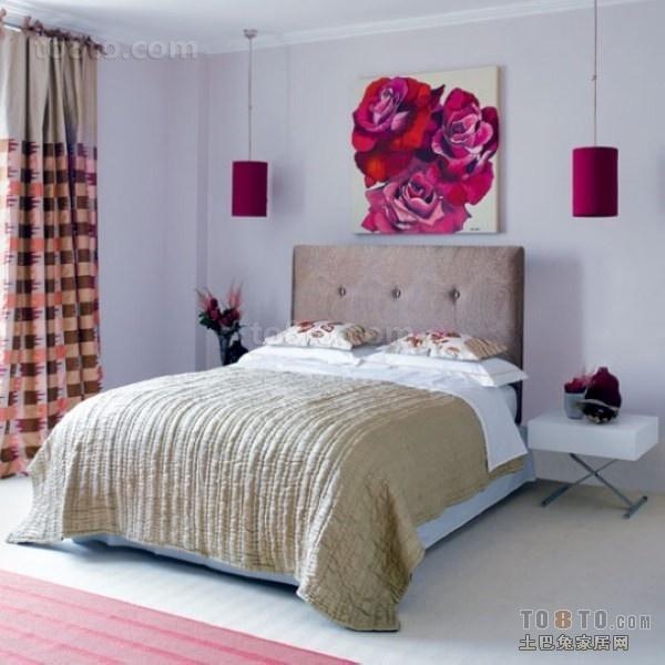 现代浪漫小户型卧室装修效果图大全2014图片