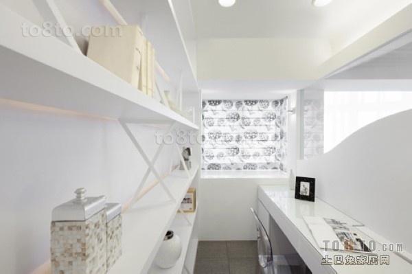 书房装修效果图 白色简洁之家