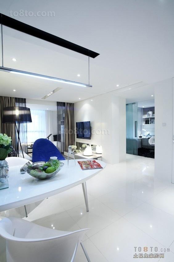 简约蓝色调的客厅