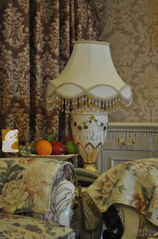 精美面积137平混搭四居客厅装修实景图