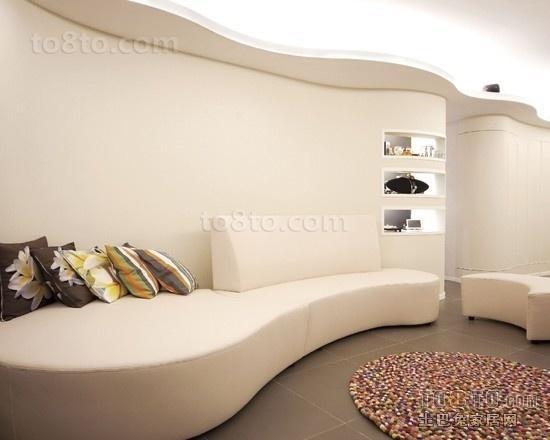 80后大爱白色简约创意客厅沙发装修效果图
